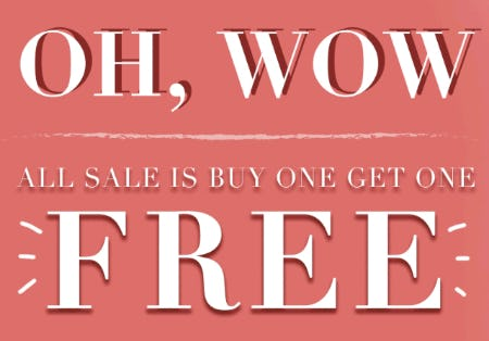 All Sale at BOGO Free