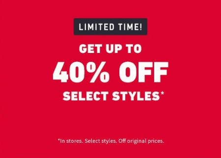 Up to 40% Off Select Styles from Hollister Co.