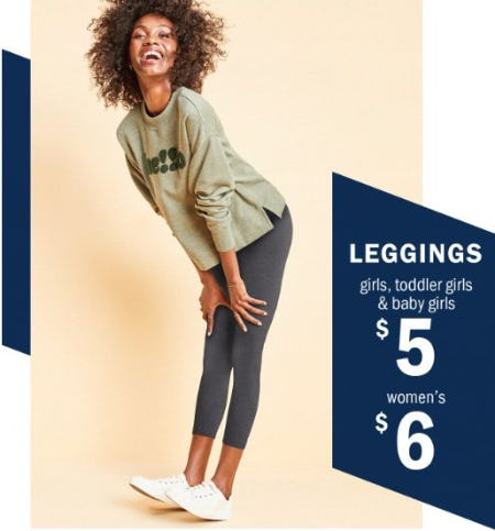 $6 Leggings for Women and $5 for Girls, Toddler Girls & Baby Girls from Old Navy