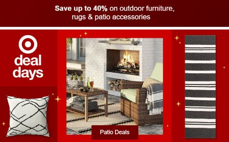 Save Up to 40% on Outdoor Furniture, Rugs & Patio Accessories from Target