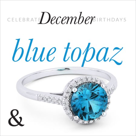 30% Off: December Blue Birthstone Jewelry Sale