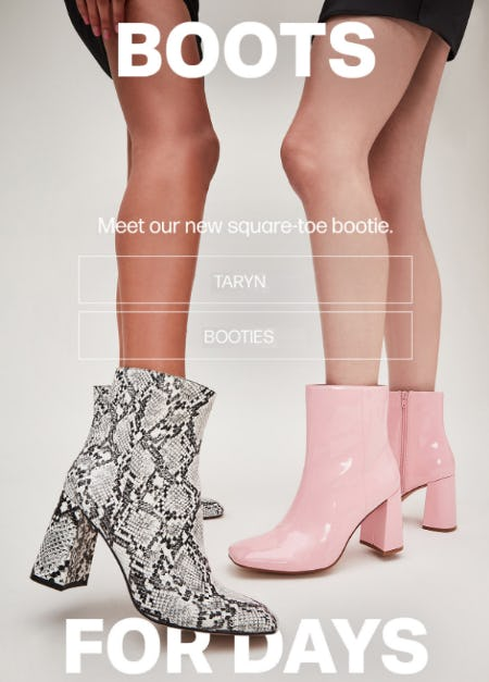 Meet Our New Square Toe Bootie from Steve Madden