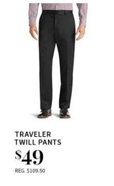 Traveler Twill Pants $49 from Jos. A. Bank