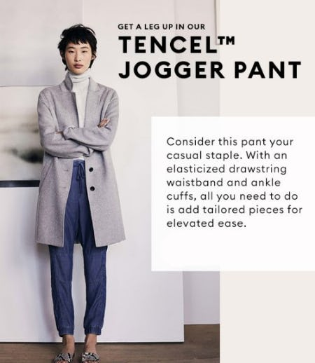 Get a Leg up in Our Tencel Jogger Pant