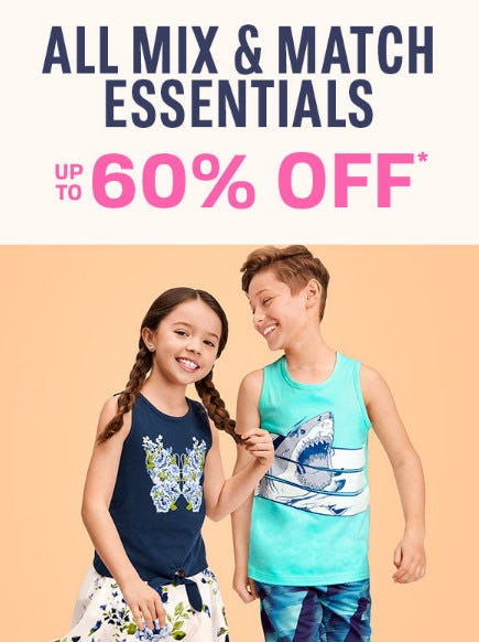 All Mix & Match Essentials up to 60% Off from The Children's Place