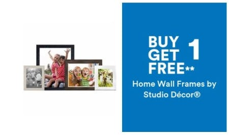 BOGO 50% Free Home Wall Frames by Studio Décor from Michaels