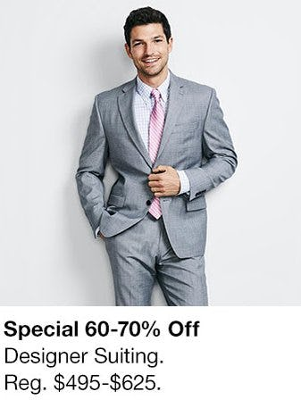 60-70% Off Designer Suiting from macy's