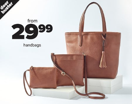Handbags From $29.99 from Belk