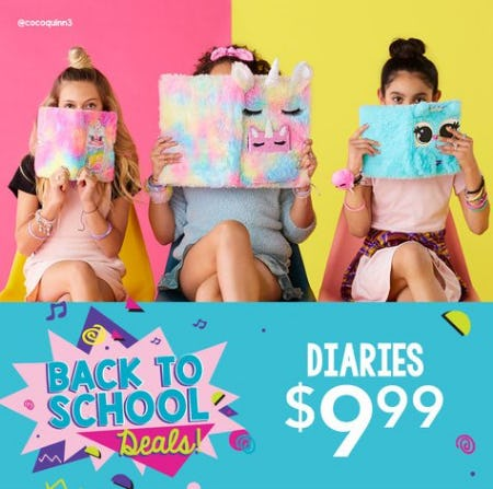 Diaries $9.99 from Claire's