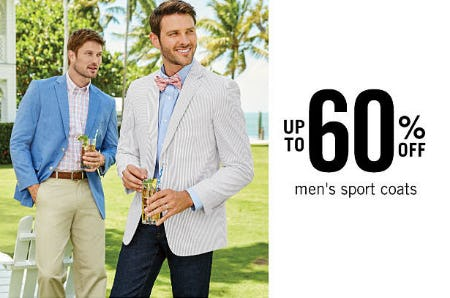 Up to 60% Off Men's Sport Coats from Belk