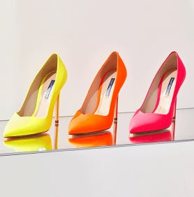 The Limited-Edition Neon Capsule from STUART WEITZMAN
