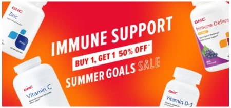 Immune Support Savings: Buy 1, Get 1 50% Off from GNC