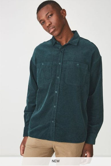 Long Sleeve Workwear Shirt from Cotton On