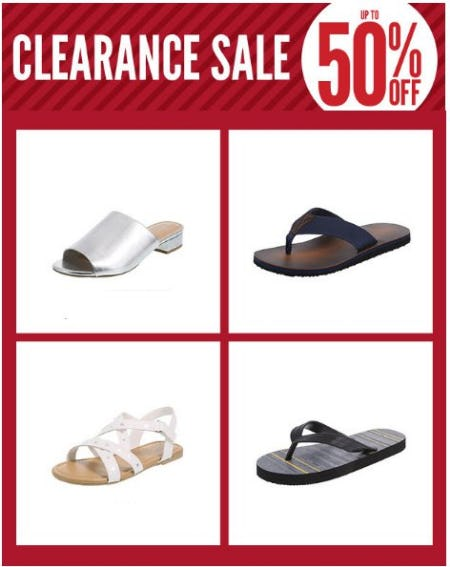 Clearance Sale up to 50% Off from Payless ShoeSource