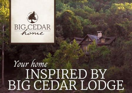 Big Cedar Home from Cabela's