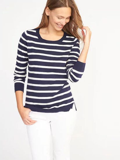 Classic Striped Sweater for Women from Old Navy