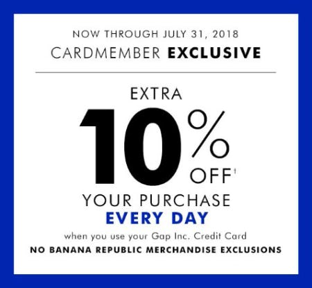 Extra 10% Off Your Purchase from Banana Republic