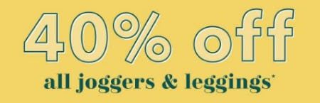 40% Off All Joggers & Leggings