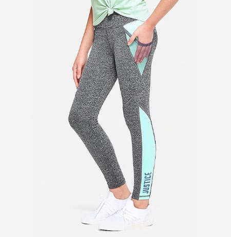 Mesh Color Block Leggings from Justice