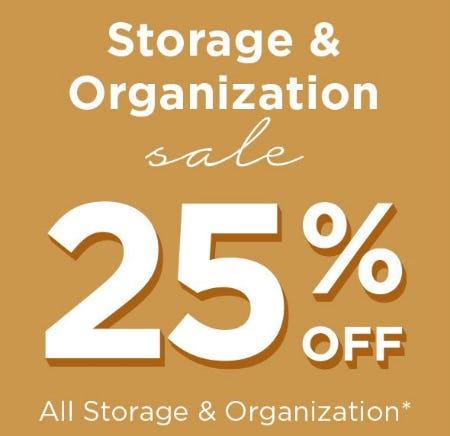 Storage & Organization Sale 25% Off from Kirkland's
