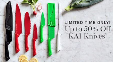 Up to 50% Off KAI Knives