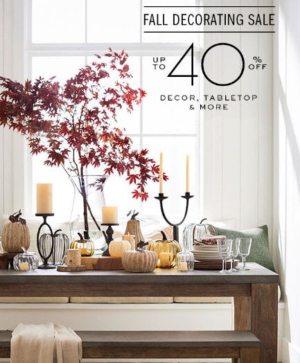 Danbury Fair Sales Pottery Barn Up To 40 Off Fall