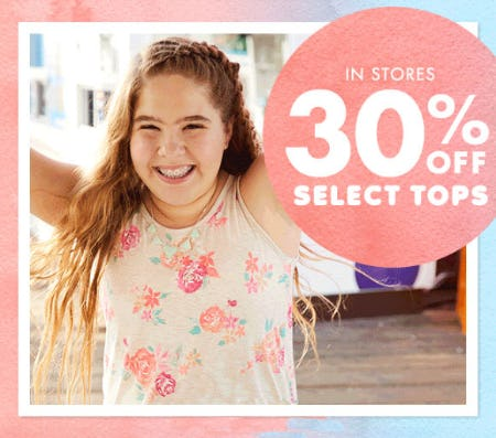 30% Off Select Tops