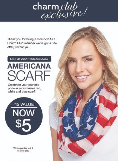 Americana Scarf Now $5 from Charming Charlie