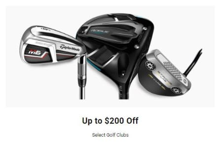 Up to $200 Off Select Golf Clubs from Dick's Sporting Goods