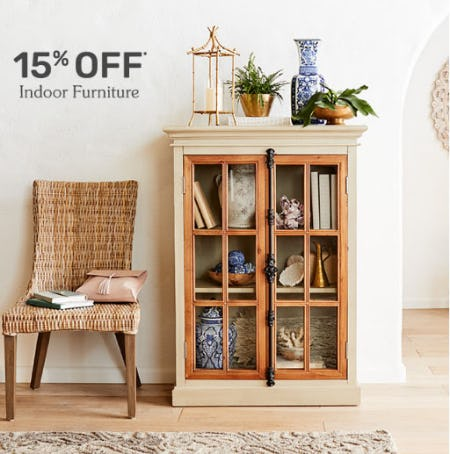 15% Off Indoor Furniture from Pier 1 Imports