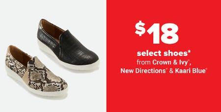 $18 Select Shoes