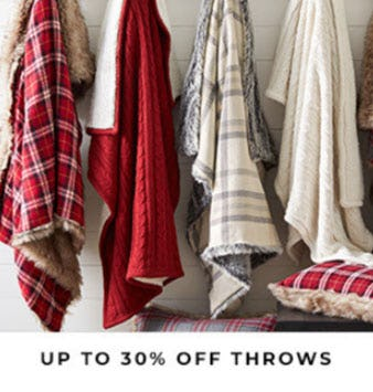 Up to 30% Off Throws