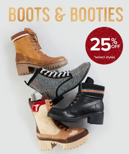 25% Off Boots & Booties
