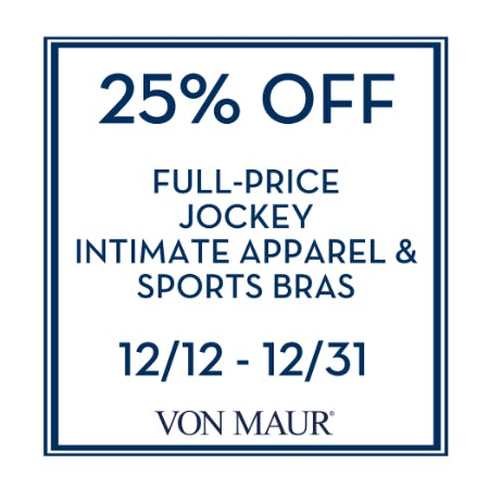 Jockey Intimate Apparel & Sports Bras 25% off from Von Maur