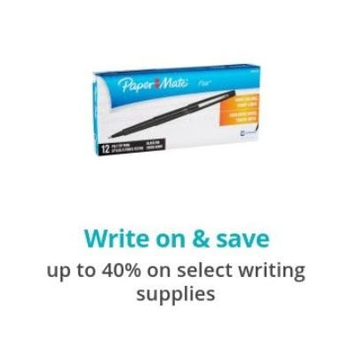 Up to 40% Off Select Writing Supplies
