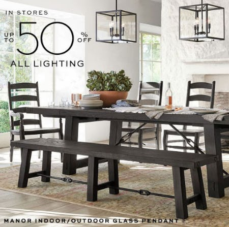 Up to 50% Off All Lighting
