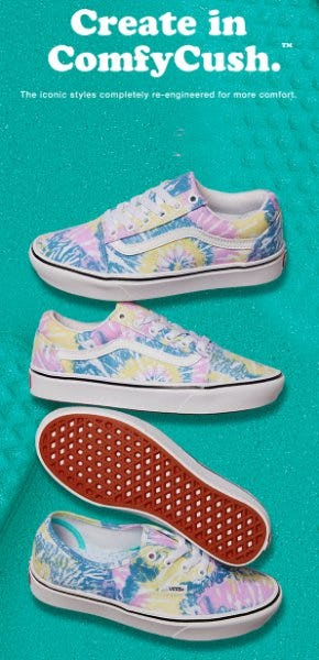 New ComfyCush Tie Dye from Vans
