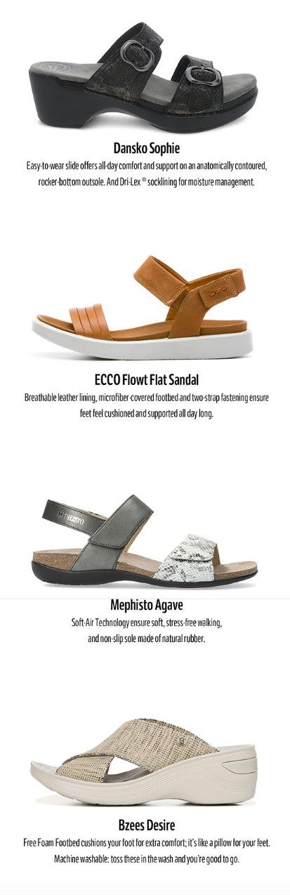 Meet our Newest Sandals from THE WALKING COMPANY
