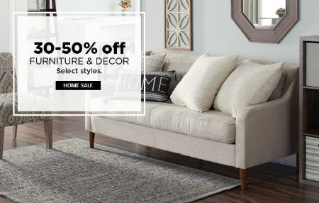 30–50% Off Furniture & Decor from Kohl's