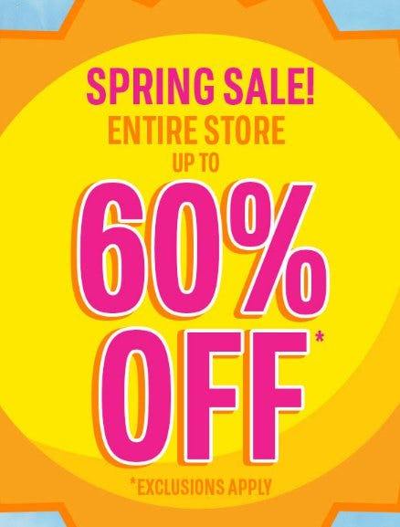 Spring Sale: Up to 50% Off Entire Store from The Children's Place