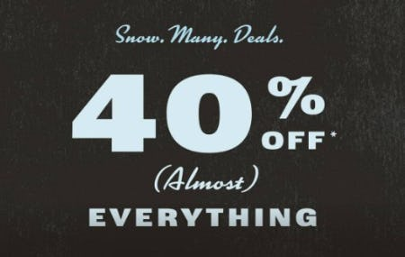 40% Off Almost Everything from Fossil