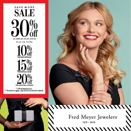 Save More Sale from Fred Meyer Jewelers