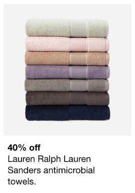 40% Off Lauren Ralph Lauren Sanders Antimicrobial Towels from macy's