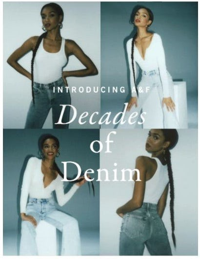 Introducing A&F Decades of Denim