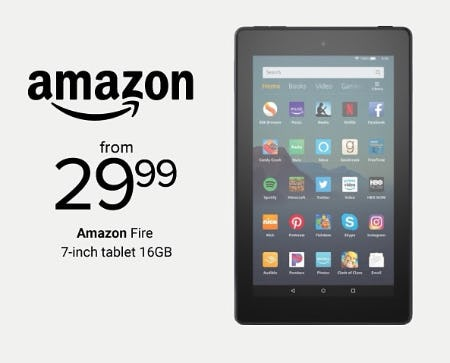 Amazon Fire 7-inch Tablet 16GB From $29.99 from Belk