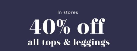 40% Off All Tops & Leggings from Aerie