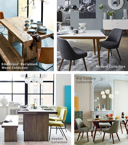 Dining Collections from West Elm
