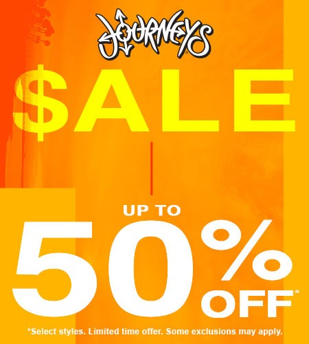 spring sale from Journeys