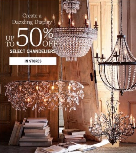Up to 50% Off Select Chandeliers