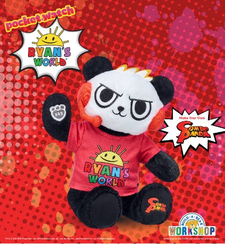 Ryan's World™ Fans! Make Your Own Combo Panda™ at Build-A-Bear Workshop!®